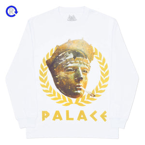 Palace White Peaser LS Tee
