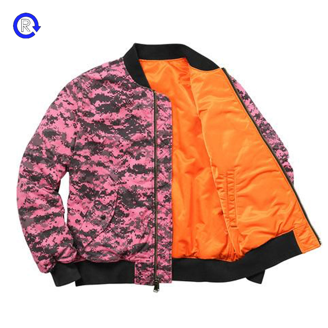 Supreme Digi Camo/Orange MA-1 Reversible Jacket (FW17)