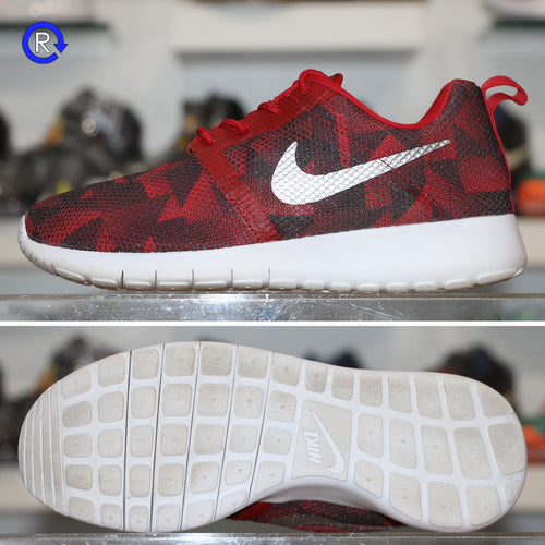 'Red/Metallic Silver' Nike Roshe One Flight Weight
