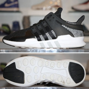 'Black/White' Adidas EQT Support