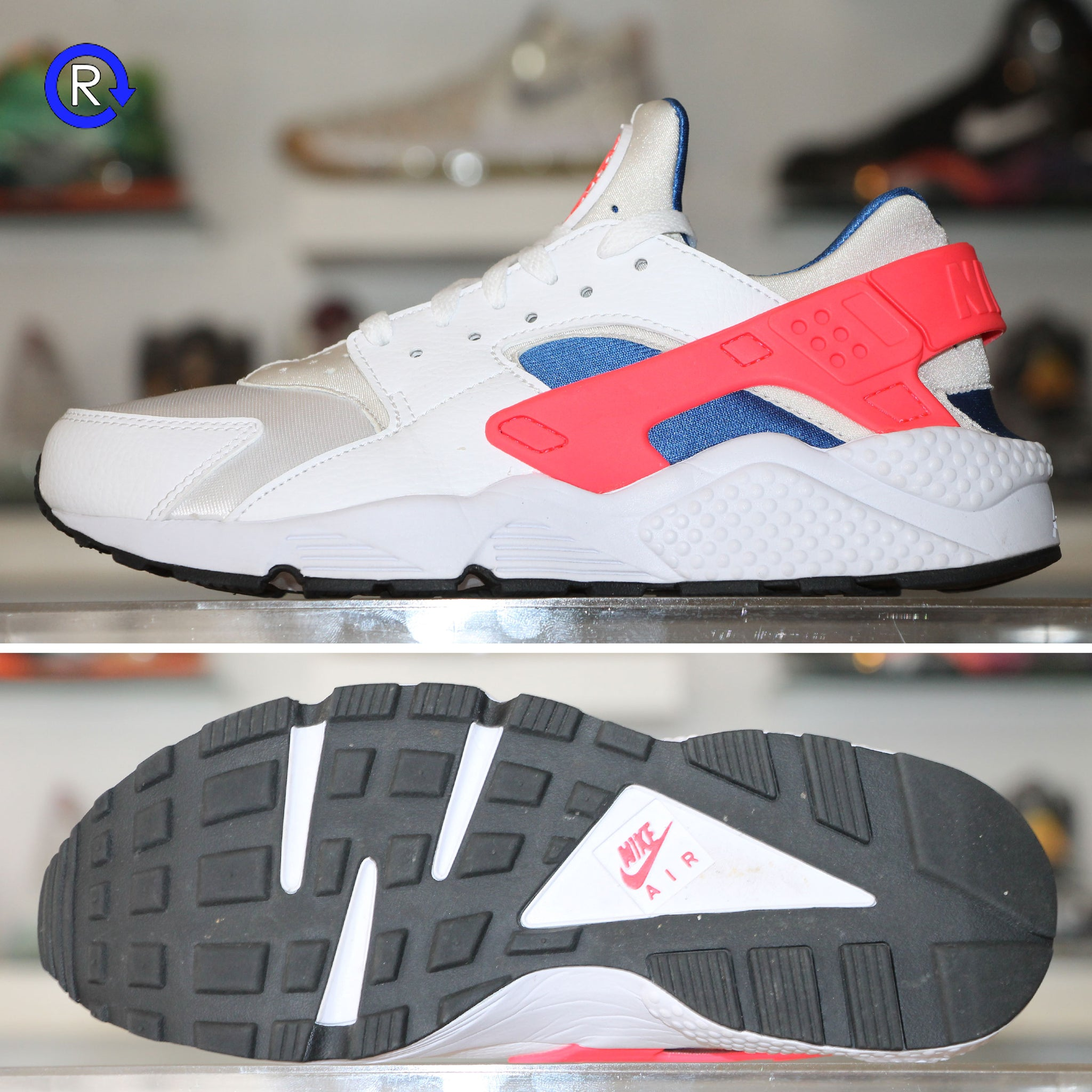 46cd7aaaeb8f0 White Ultramarine  Nike Huarache – Refresh PGH