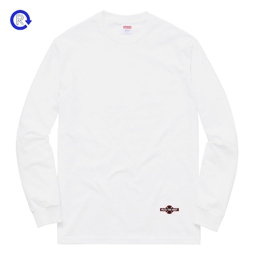 Supreme x Independent White Fuck The Rest LS Tee (FW17)