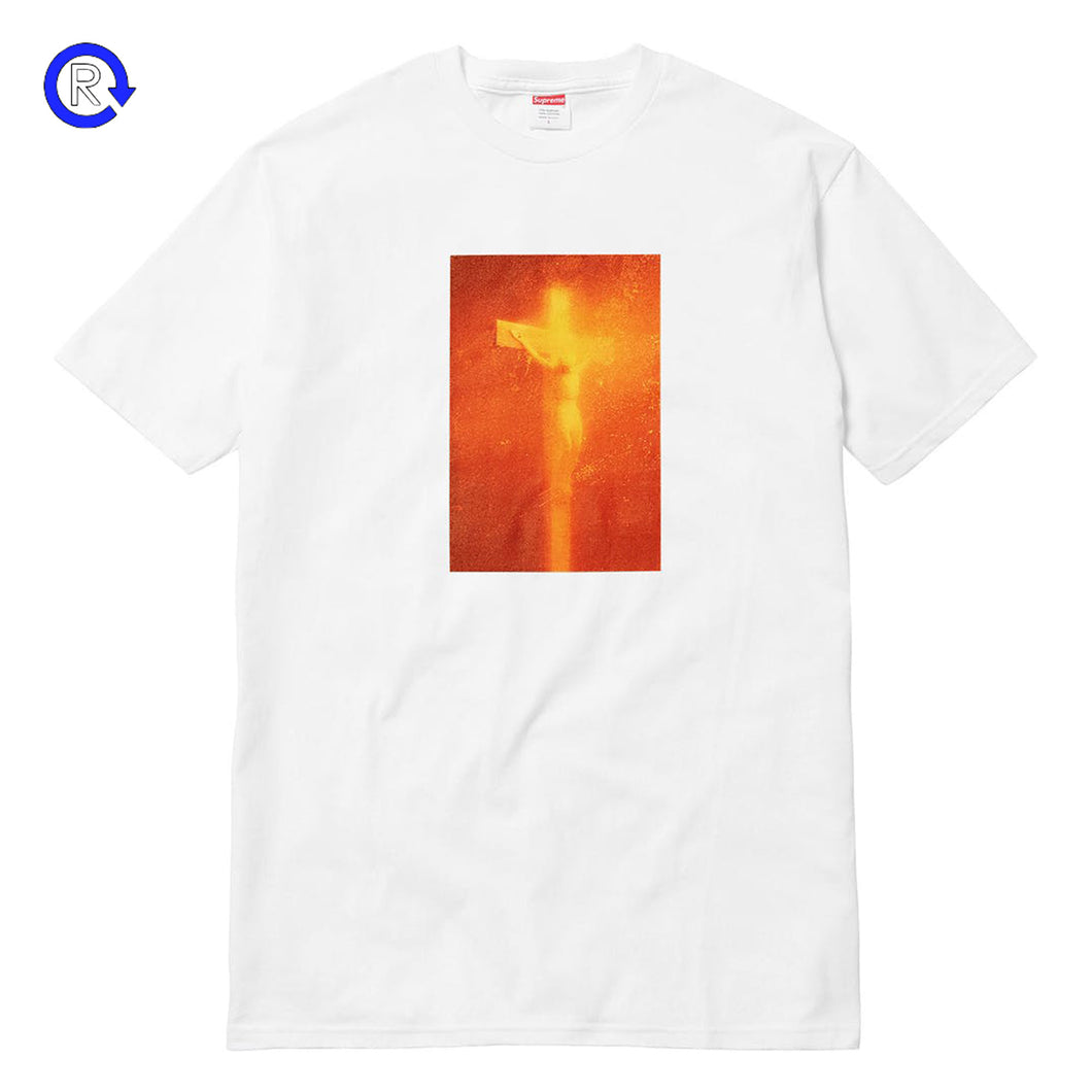 Supreme White 'Piss Christ' Tee (FW17)