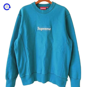 Supreme Teal/Teal 'Box Logo' Crew Neck Sweatshirt (2007)