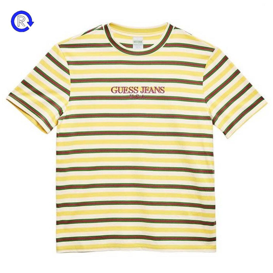 'Dragonfruit Striped' Guess x Farmer's Market Tee