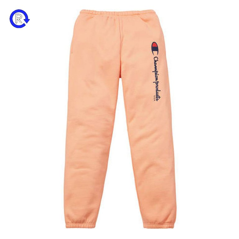 Champion x Supreme Peach Sweatpants (FW16)