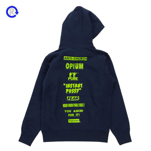Supreme Navy Pure Fear Hooded Sweatshirt (SS16)