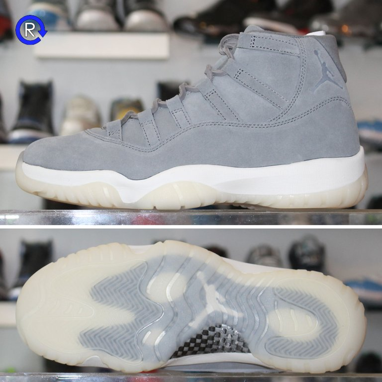 'Grey Suede' Air Jordan 11 PREM (2016)