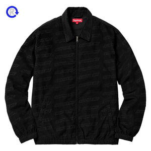 Supreme Black Debossed Corduroy Jacket (SS18)