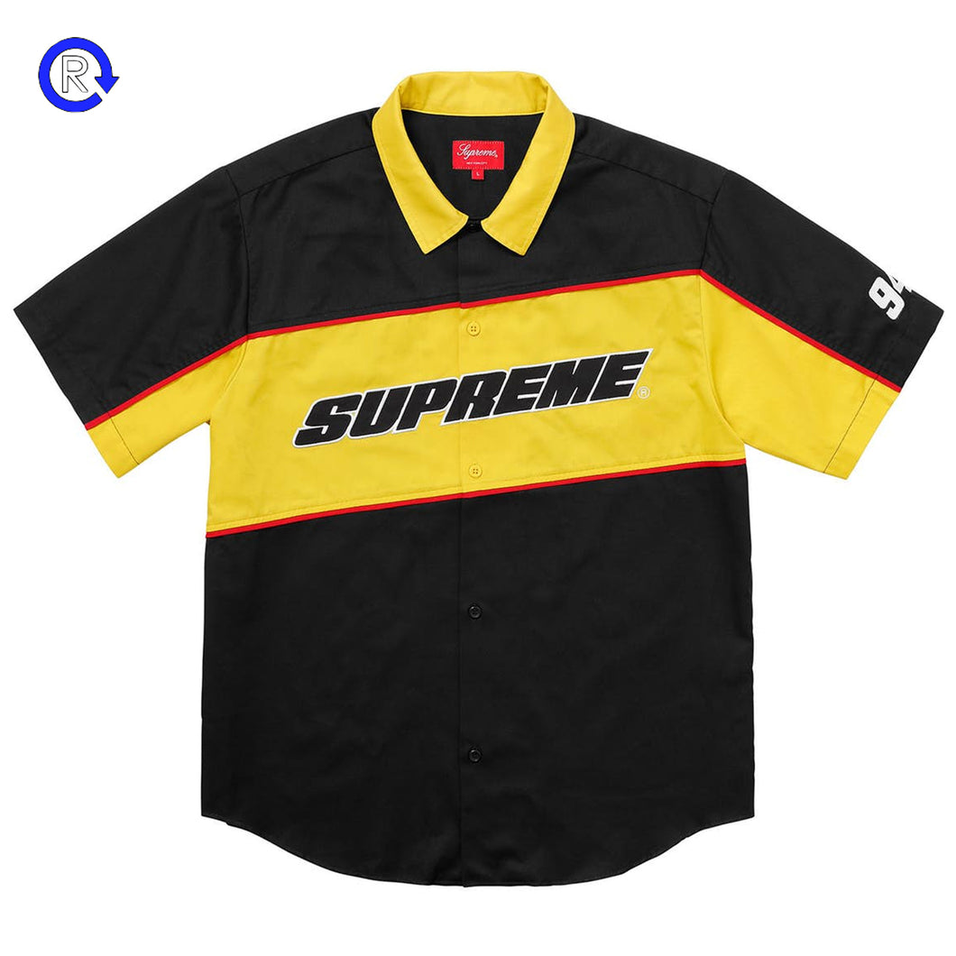 Supreme Black Color Blocked Work Shirt (SS18)