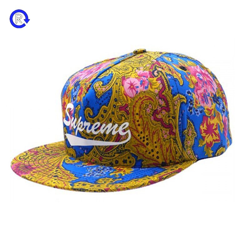 Supreme Blue Paisley 5-Panel Snapback (FW17)