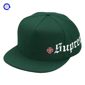 Supreme x Independent 'Dark Green' Old English 5-Panel (FW17)