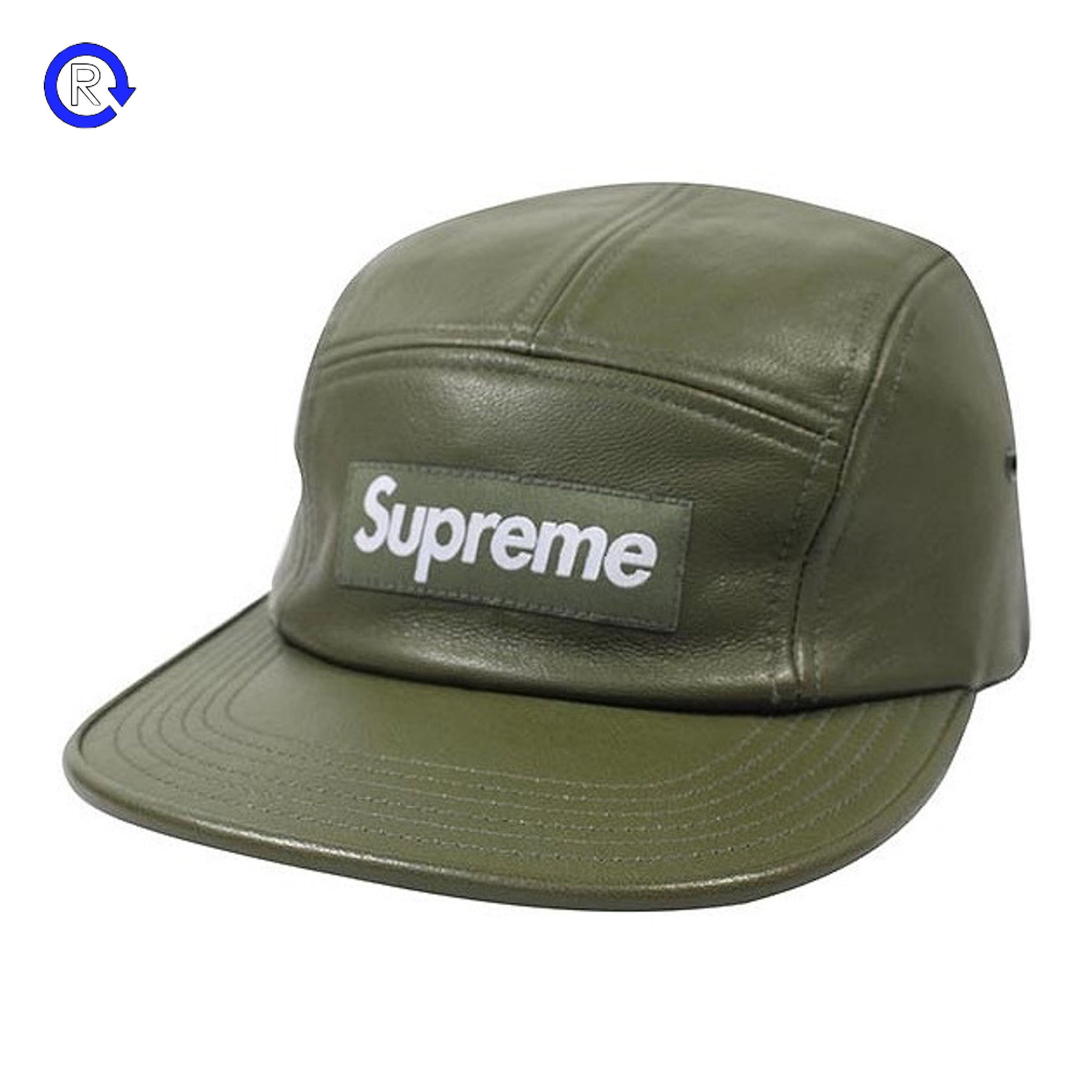03bea7a45e4 Supreme Olive Leather Camp Cap (FW15) – Refresh PGH