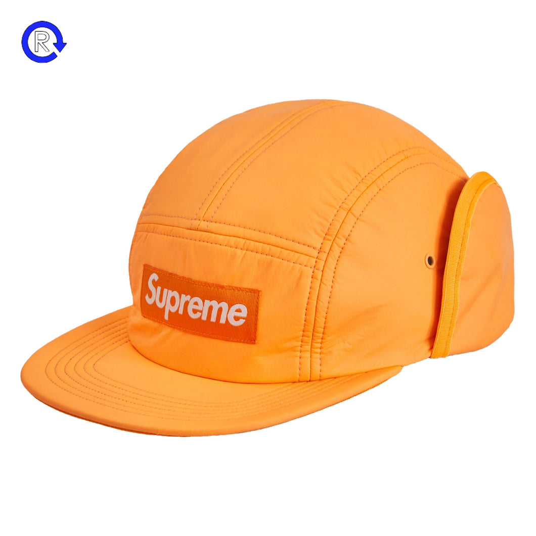 Supreme Fluorescent Orange PrimaLoft Earflap Camp Cap (FW18)