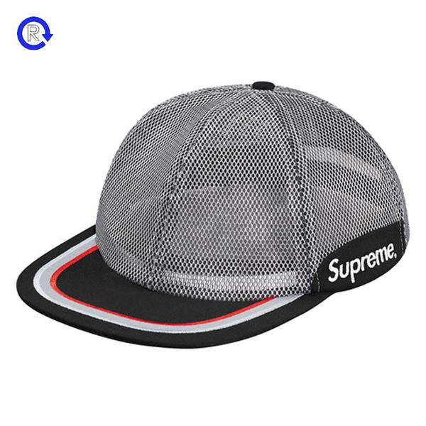 Supreme Silver 'Metallic Mesh' 6-Panel Hat (SS17)