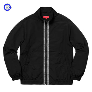 Supreme Black Classic Logo Taping Track Jacket (SS18)