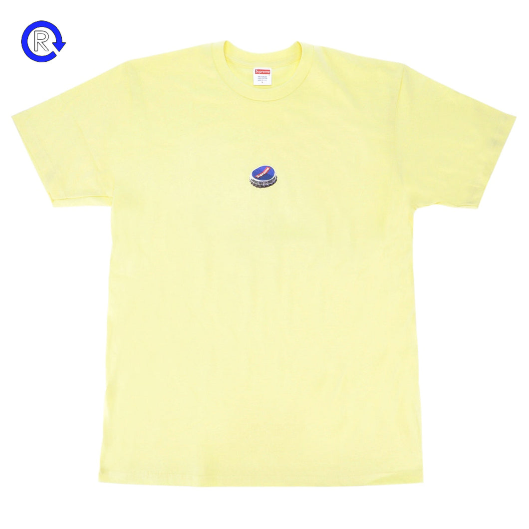 Supreme Pale Yellow Bottle Cap Tee (FW18)