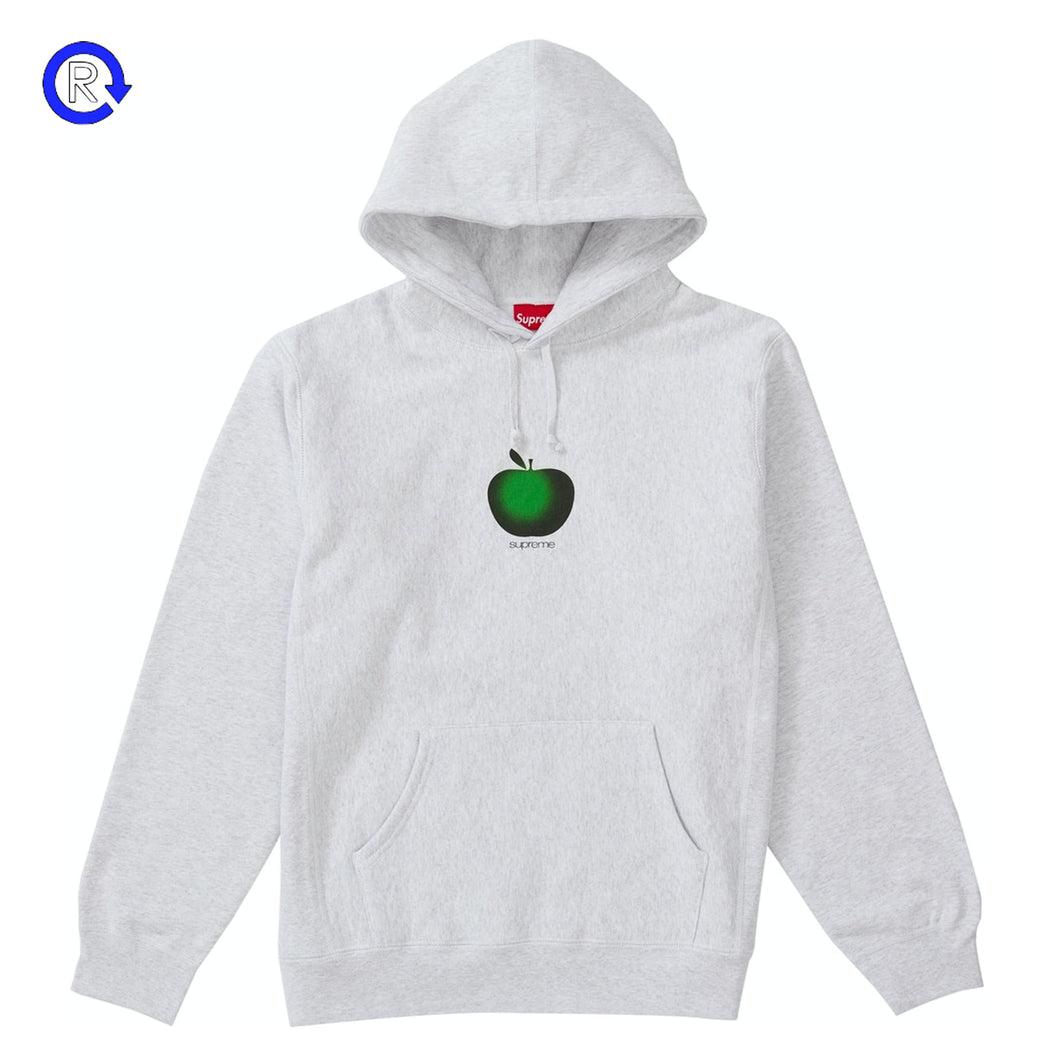 Supreme Ash Grey Apple Hooded Sweatshirt (SS19)