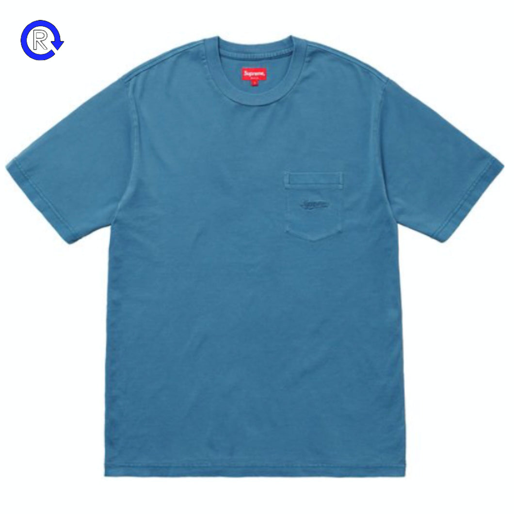 Supreme Dark Blue Overdyed Pocket Tee (SS20)