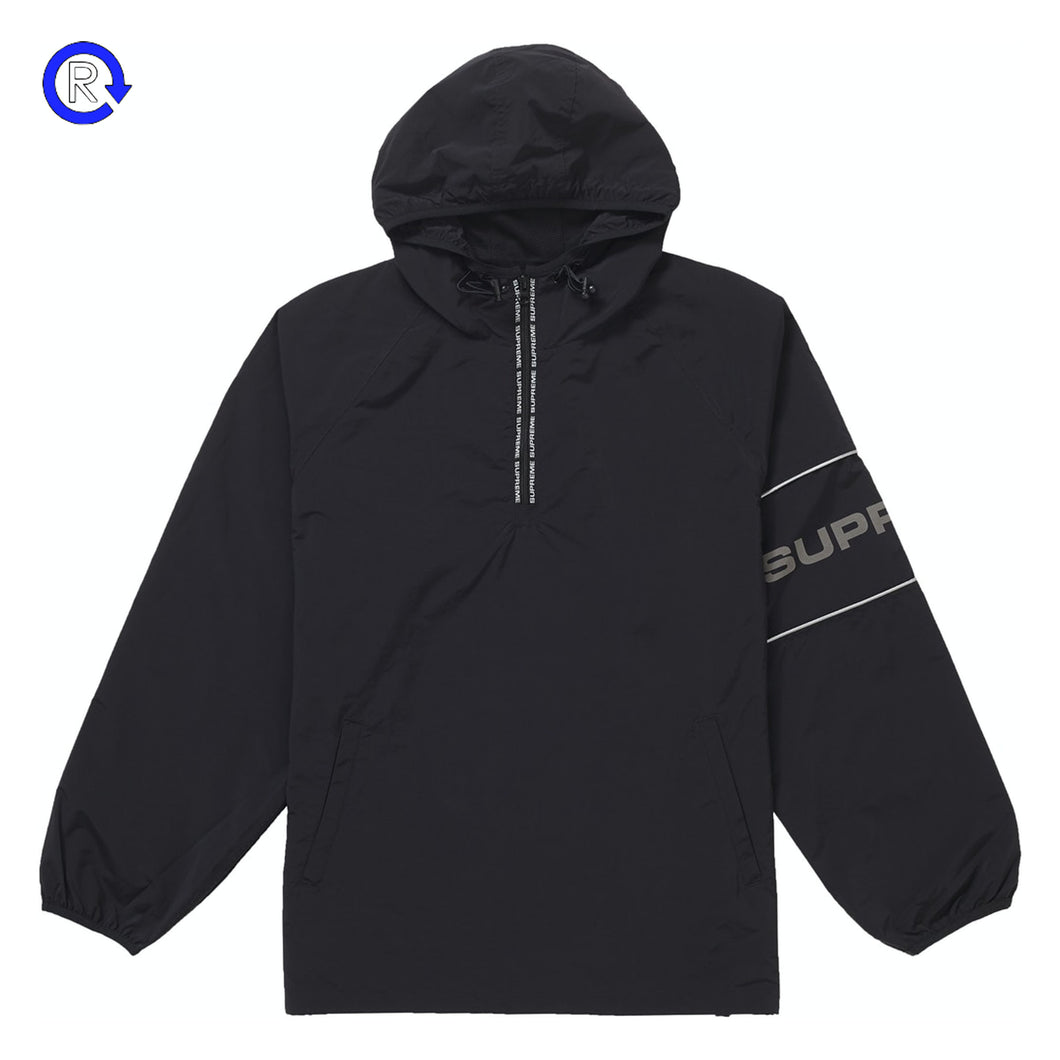 Supreme Black Nylon Ripstop Hooded Pullover (SS19)