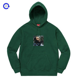 Supreme Dark Green Marvin Gaye Hooded Sweatshirt (FW18)
