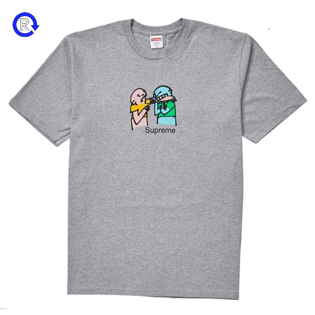 Supreme Heather Grey Bite Tee (FW19)