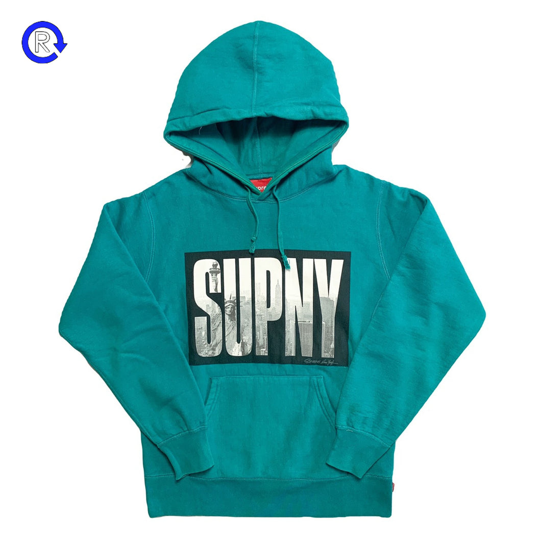 Supreme Teal SUPNY Hooded Sweatshirt (FW10)