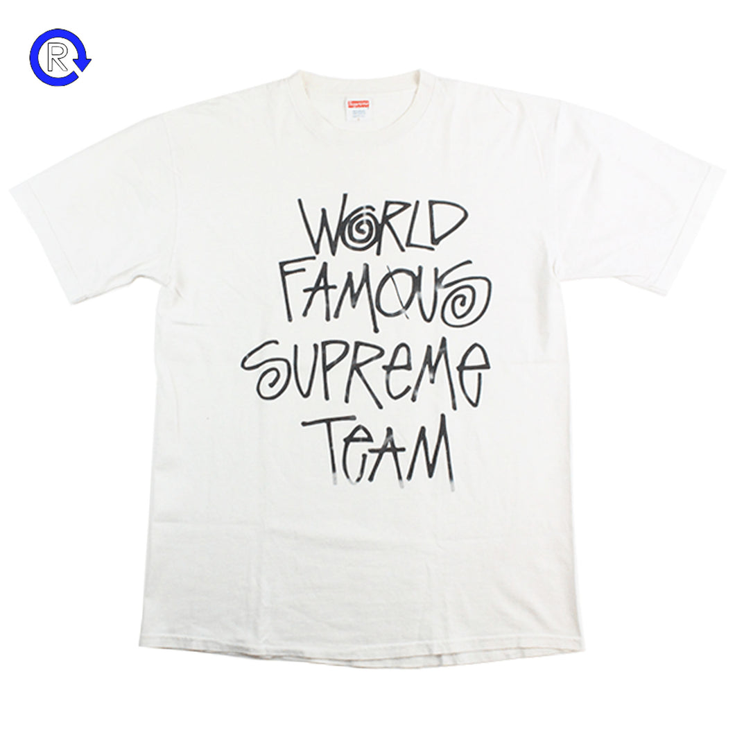 Supreme White World Famous Supreme Team Tee (2001)