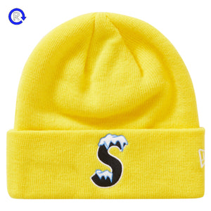 Supreme x New Era Yellow S Logo Beanie (FW20)