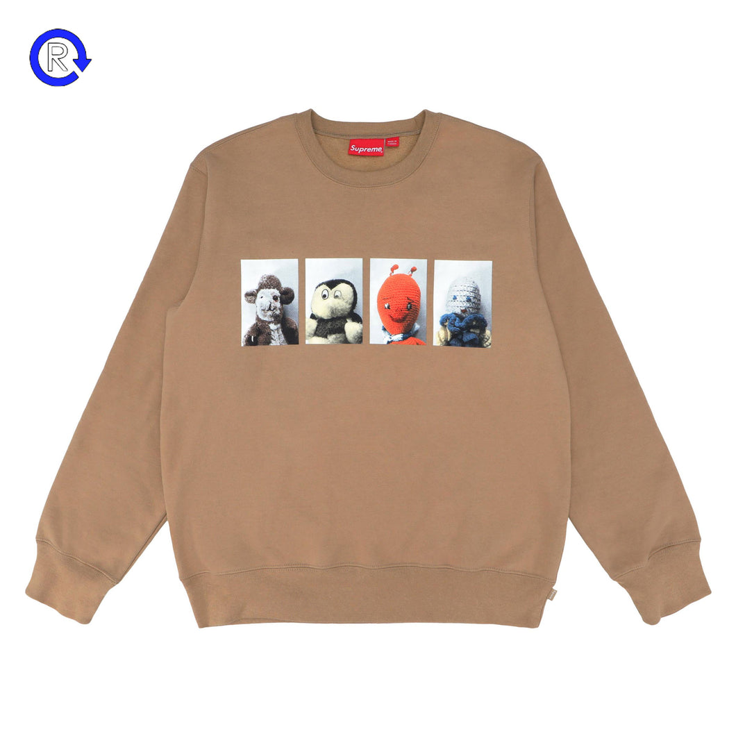 Supreme x Mike Kelley Light Brown AhhYouth! Crewneck Sweatshirt (FW18)