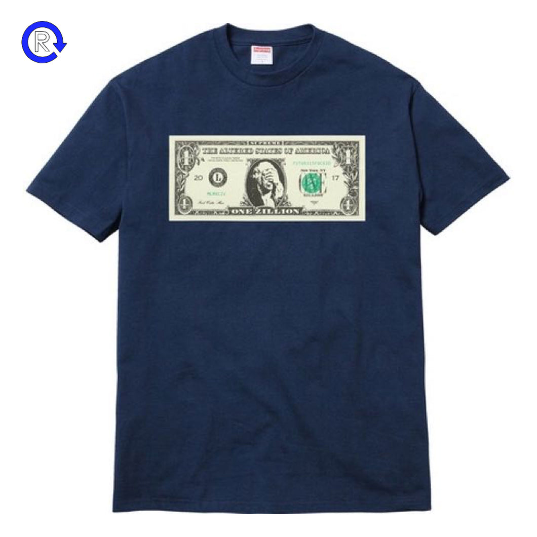 Supreme Navy Dollar Tee (FW17)
