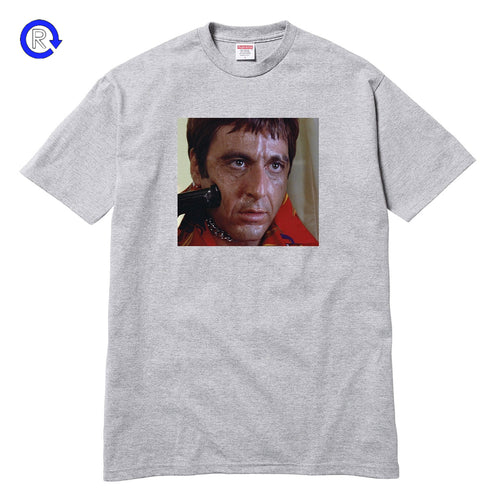 Supreme x Scarface Heather Grey Shower Tee (FW17)