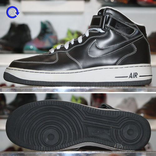 'Black/Net' Nike Air Force 1 Mid | Size 9.5 Condition: 9/10.