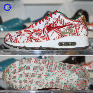 'Candy Cane Christmas' Nike Air Max 90 (2015) | Women's Size 7 (GS 5.5) Condition: 9.5/10.