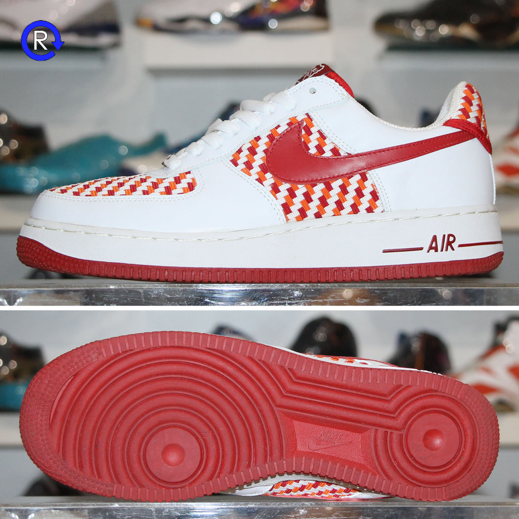 'White/Red' Drum Island Nike Air Force 1 Low (2005) | Size 9.5 Condition: 9.5/10.