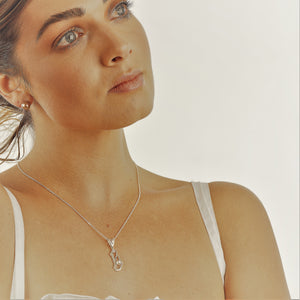 Island Bound Basile Island Silver Pendant with an Abrolhos Island Pearl and Diamond