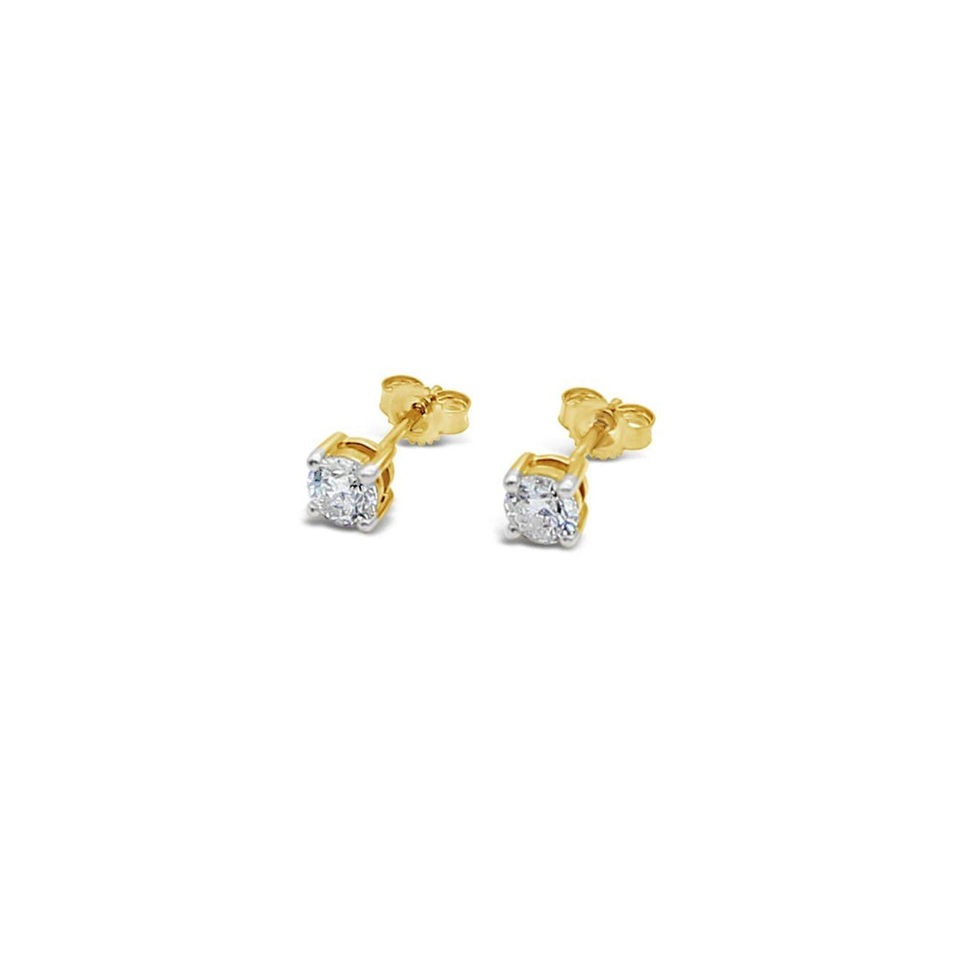 9ct Yellow Gold Stud Earrings TCW=0.75ct