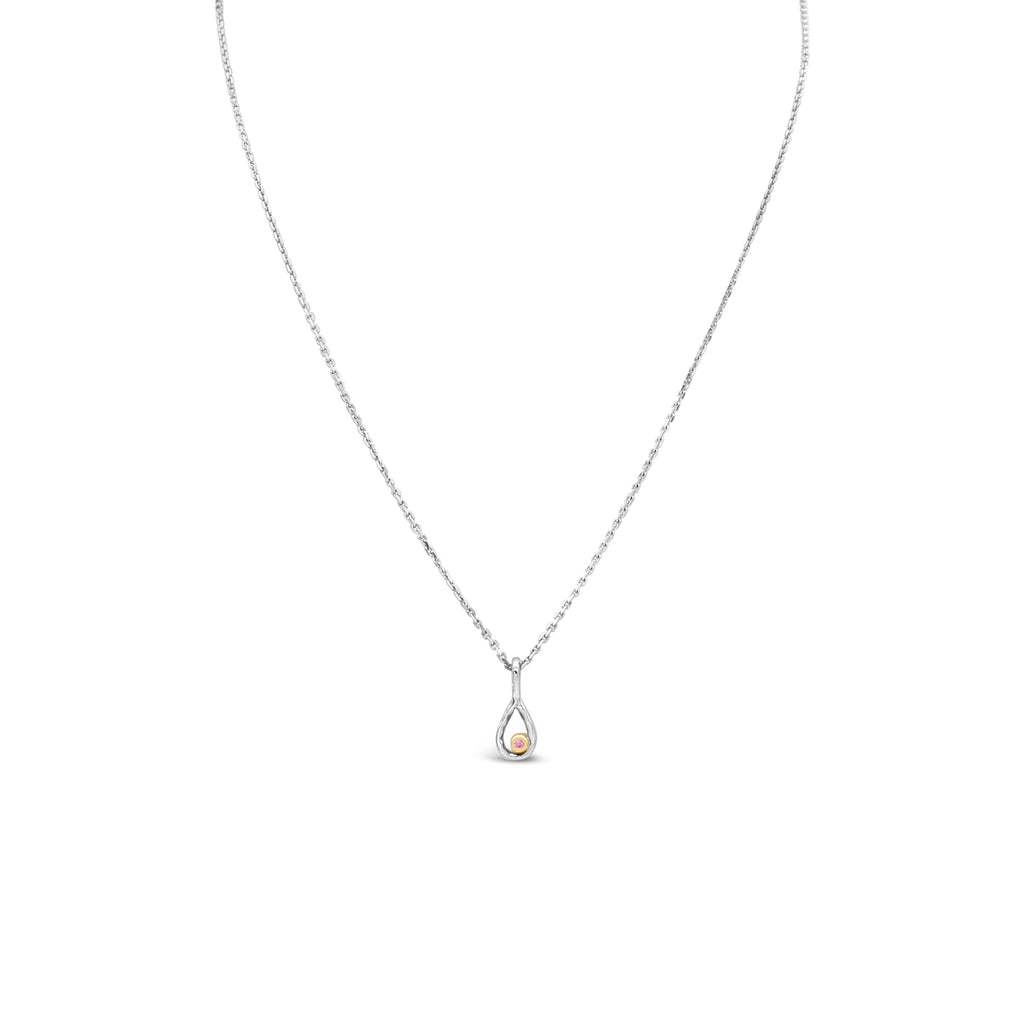 Pink Diamond Pendant White Gold by OLYV