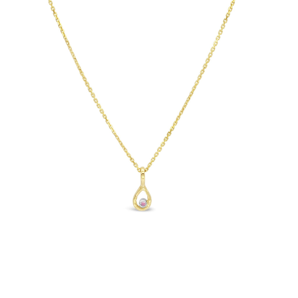 Pink Diamond Pendant Yellow gold by OLYV