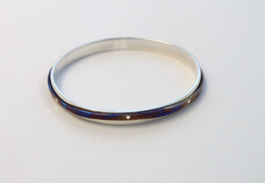Sterling Silver Titanium Bangle