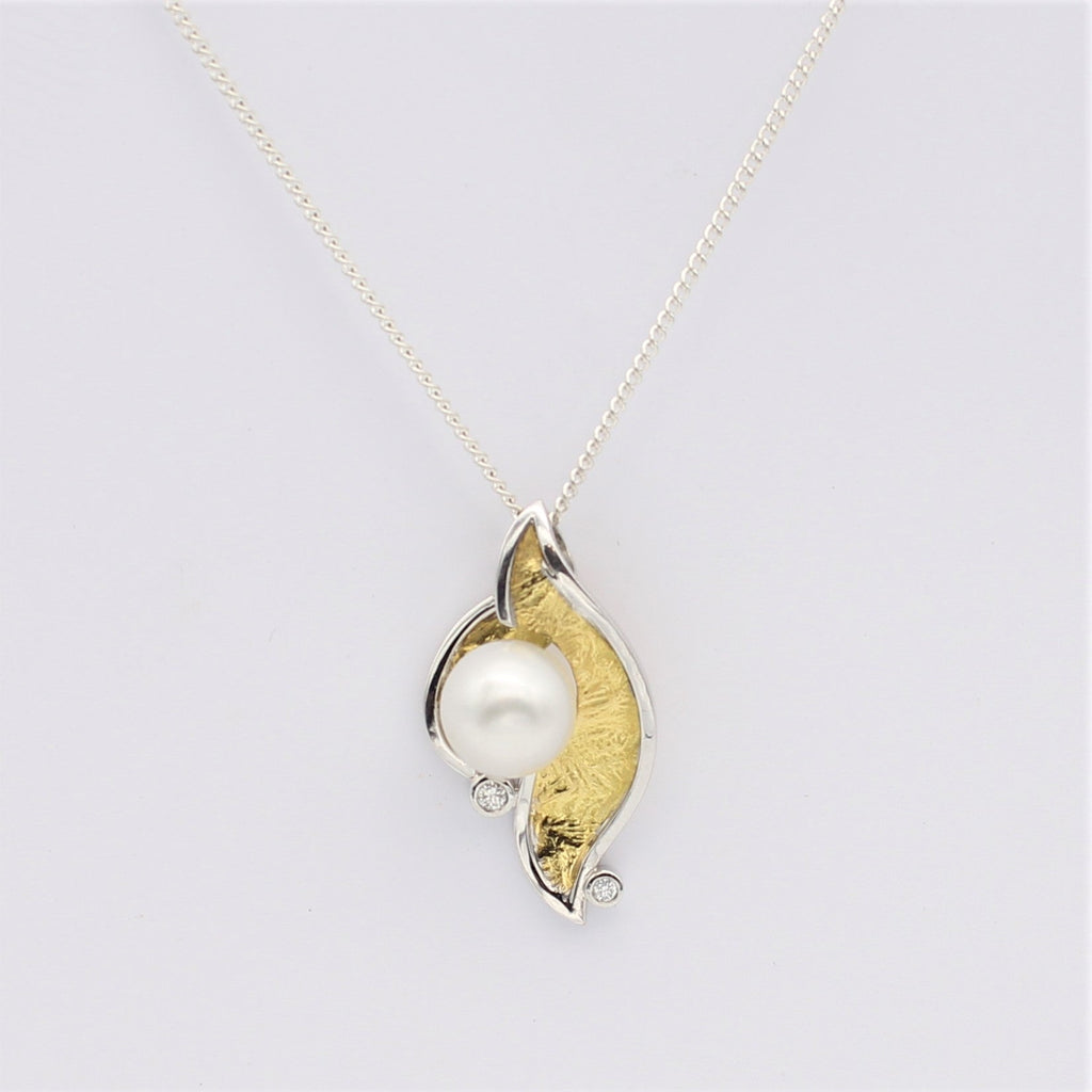 South Sea Pearl & Diamond 18ct Yellow and White Gold