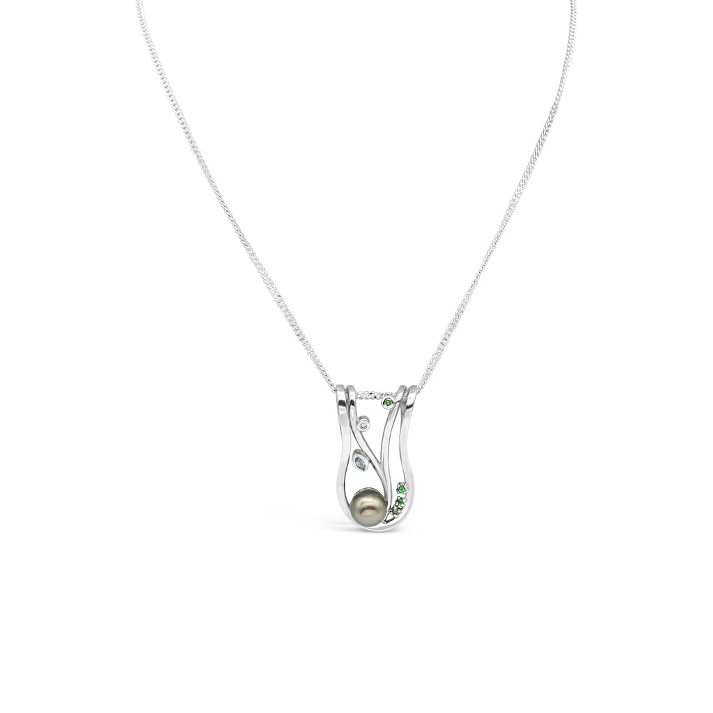 Silver Lexi Pendant Abrolhos Pearl