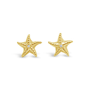 Latitude Starfish Earrings Yellow Gold and Diamonds