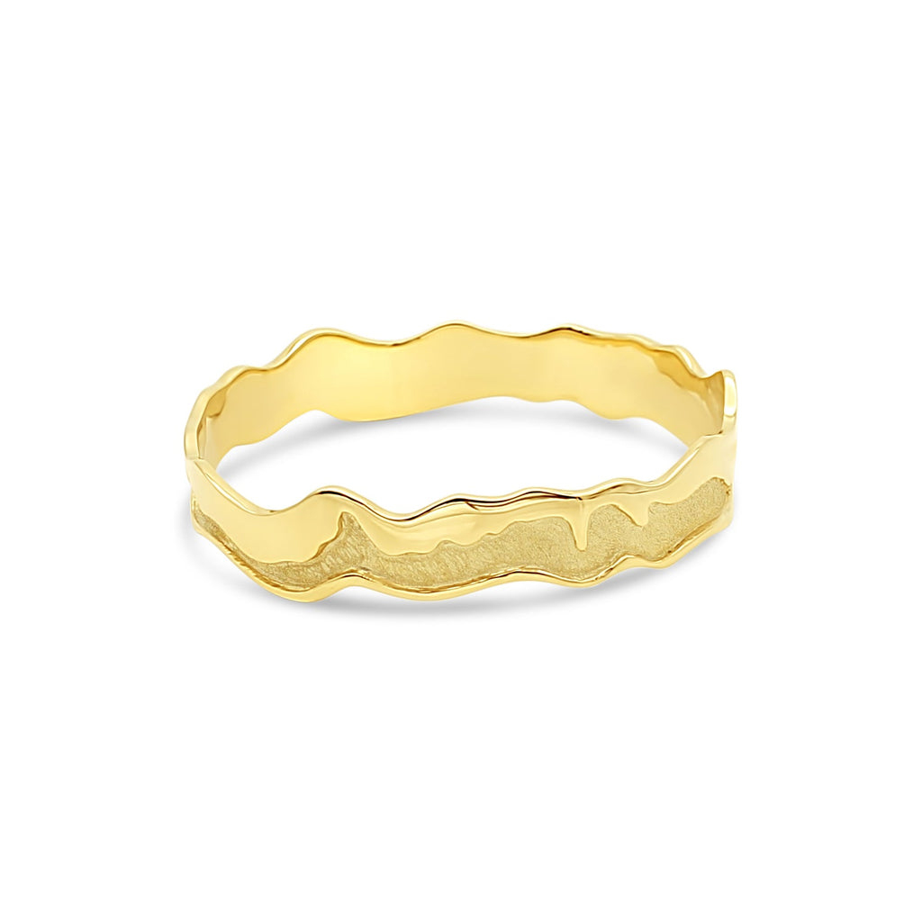 Island Bound Medium Width 9ct Yellow Gold Pelsaert Bangle