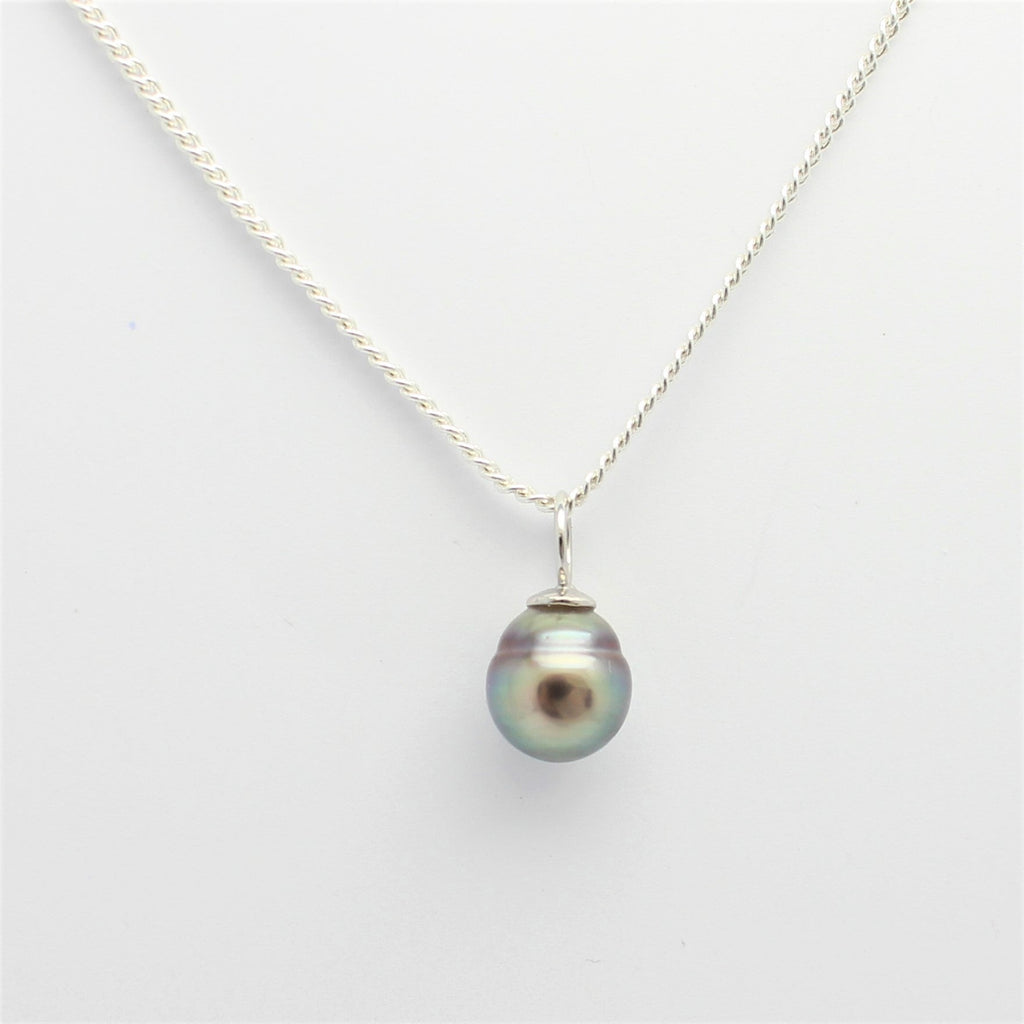 Abrolhos Island Pearl Simple Silver Bail