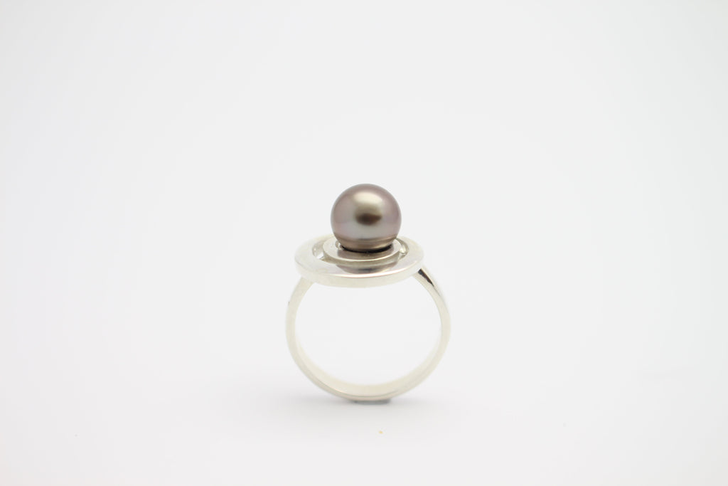 Silver Latitude Orbit Ring