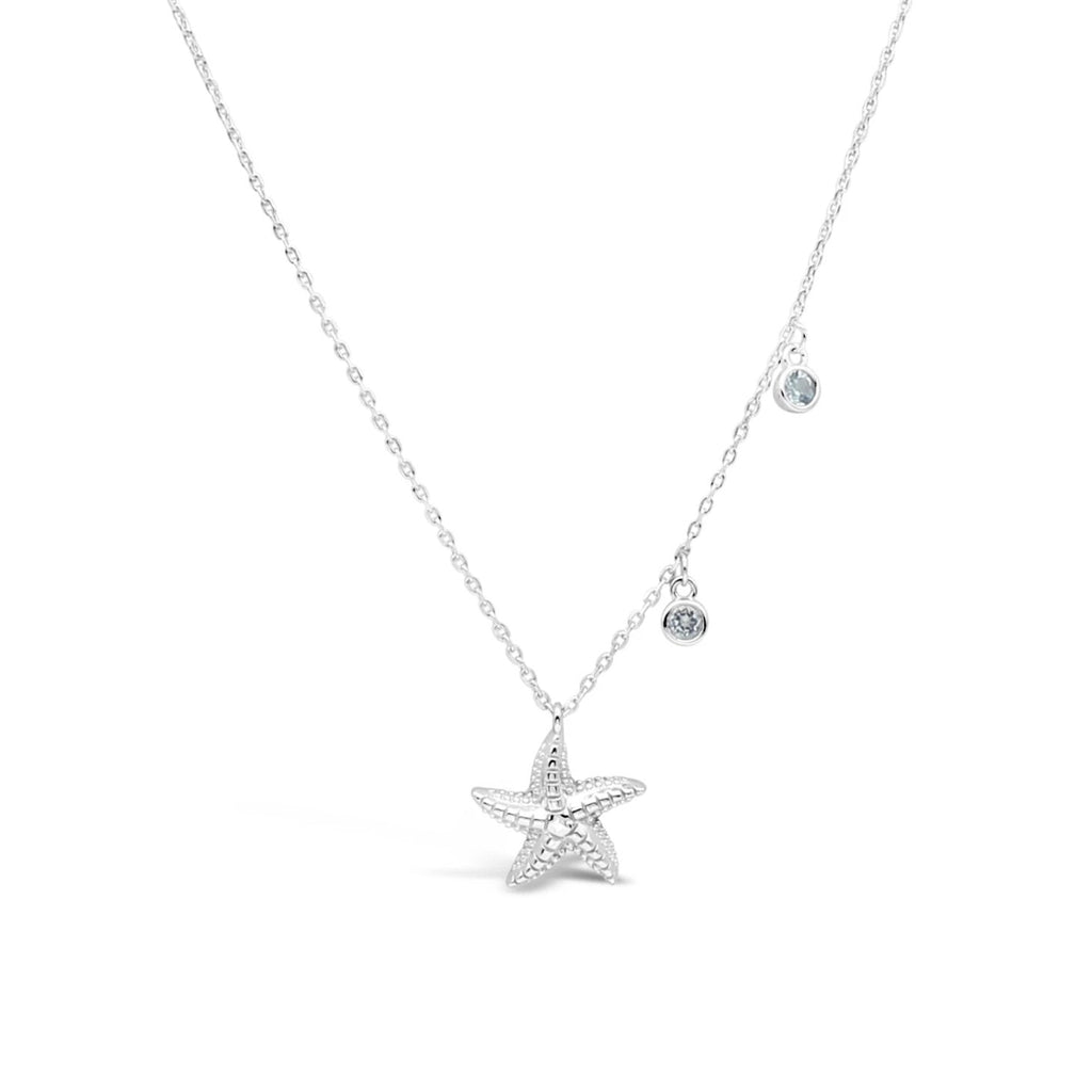 Starfish and Blue Topaz Necklet