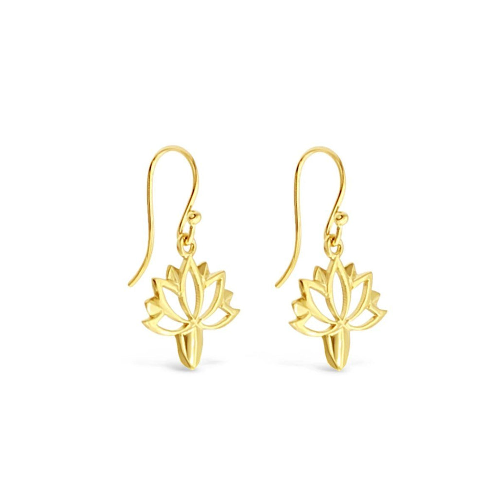 Lotus 9ct Yellow Gold Earrings