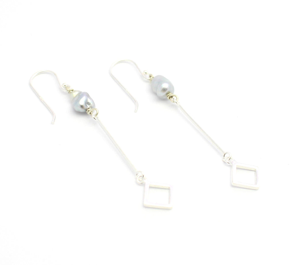 Keshi Bar Drop Earrings