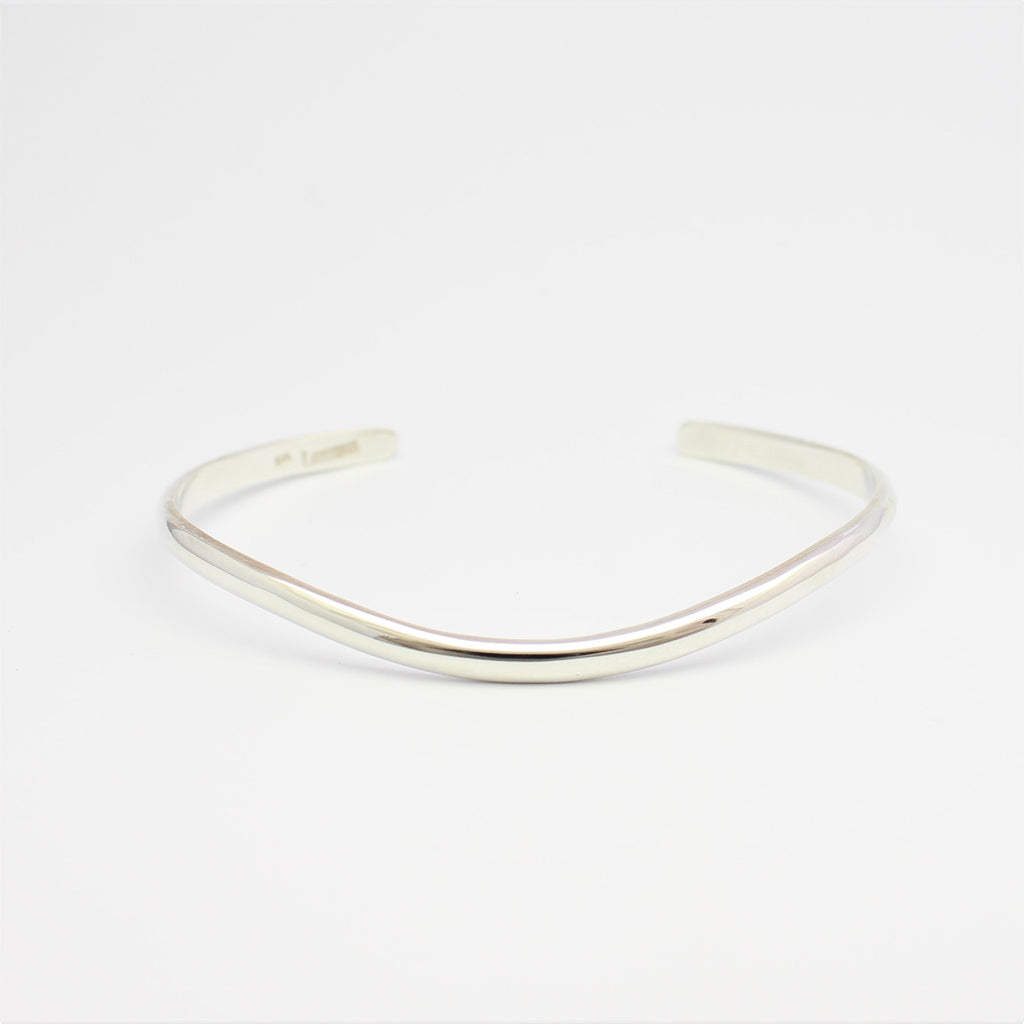Sterling Silver Skyline Plain Cuff